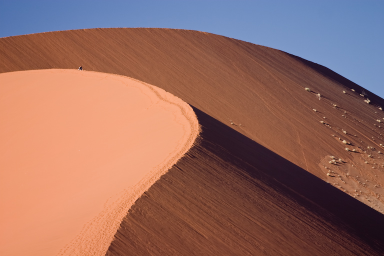 Namibia<br />Dune color pesca a Sossusvlei